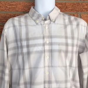 Burberry Men's Casual Button Down Plaid Shirt